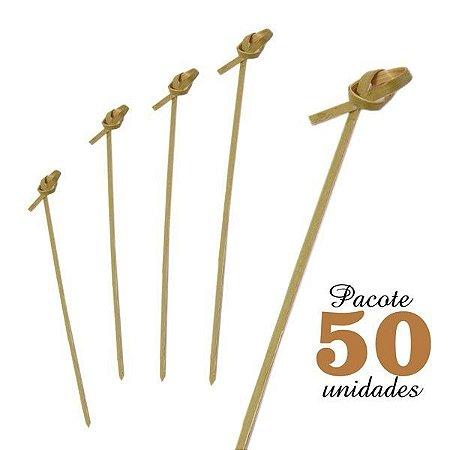 Espeto de Bambu com Nó 9 cm com 50 unidades