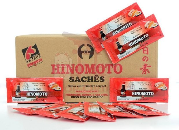Molho de Soja (Shoyu) PREMIUM - Hinomoto 250 sachês