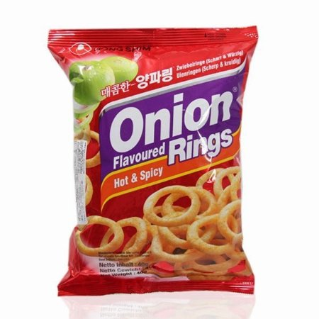 Salgadinho sabor Cebola Apimentada (Onion Rings Hot & Spicy) 40 g - Nong Shim