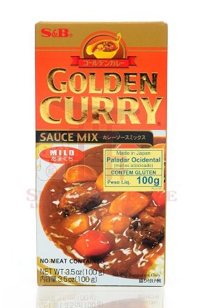 Curry em Tablete (Golden Curry Mild - Amakuti) S&B 100g