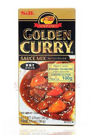 Curry em Tablete (Golden Curry Hot - Karakuchi) S&B 92 g