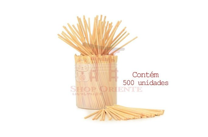 Palito de Bambu Decorado - 500 unid.