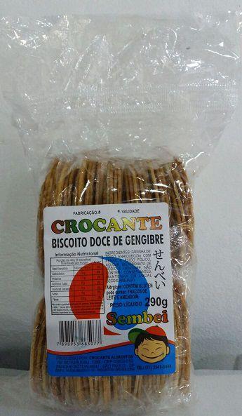Biscoito Doce de Gengibre (Sembei) - Crocante 290 g