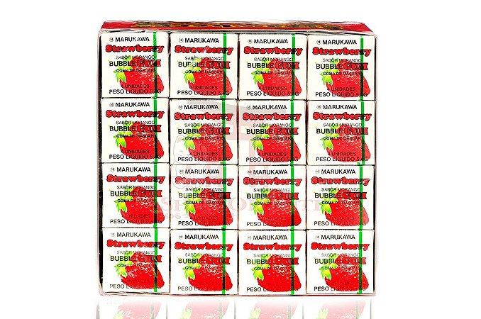 Chiclete (Bubble Gum) sabor Morango - Marukawa 48 unidades