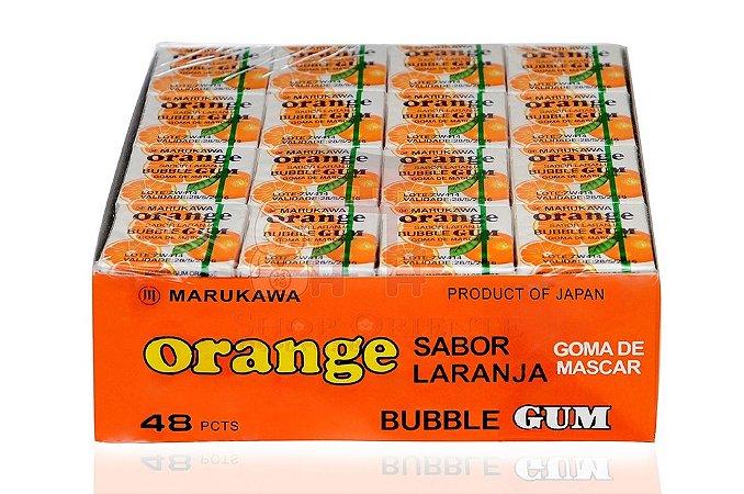 Chiclete (Bubble Gum) sabor Laranja - Marukawa 48 unidades