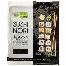 Nori - Alga Marinha para Sushi e Temaki com 10 folhas