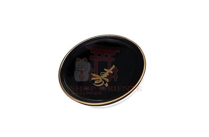 Pires redondo para Shoyu (Nozoki) - Preto