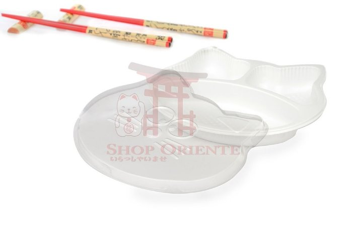 Embalagem Descartável para Sushi 20 x 14 cm - Manekineko (10 unidades)