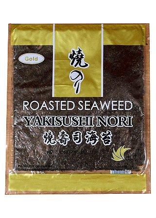 Nori - Alga Marinha para Sushi e Temaki com 10 folhas Gold