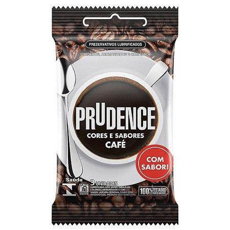 Preservativo Prudence com Aroma e Sabor Café - 3 Unidades