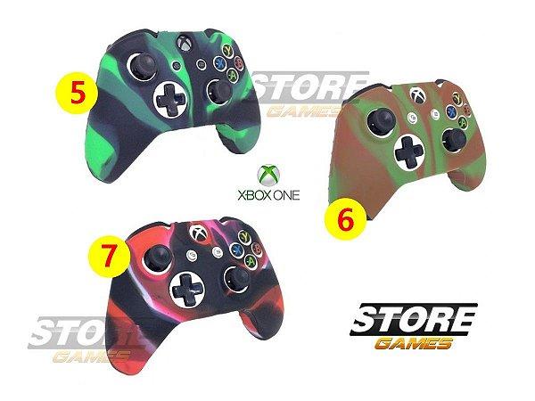 Capa Case Protetora Silicone Controle Xbox One Anti Risco Confortável Não Desliza A Mão