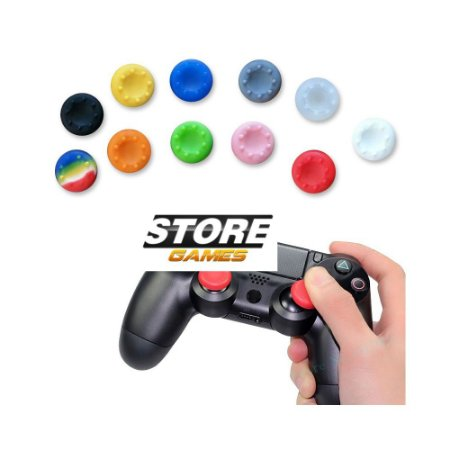 10 Grips de Silicone Para Playstation PS2 PS3 PS4 XBOX 360 e XBOX One