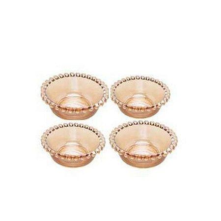 Conjunto 4 Bowls Cristal Pearl Ambar 12x4cm