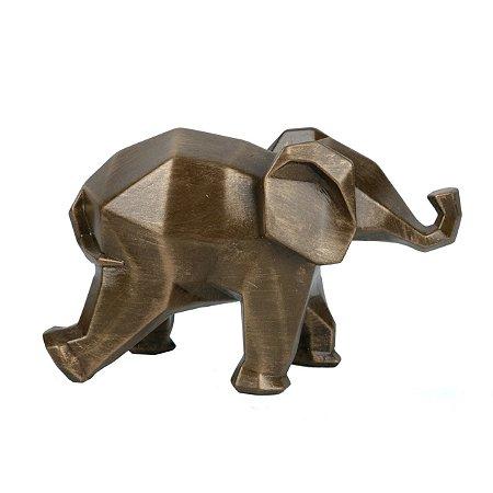 Escultura Elefante Geometrico Resina