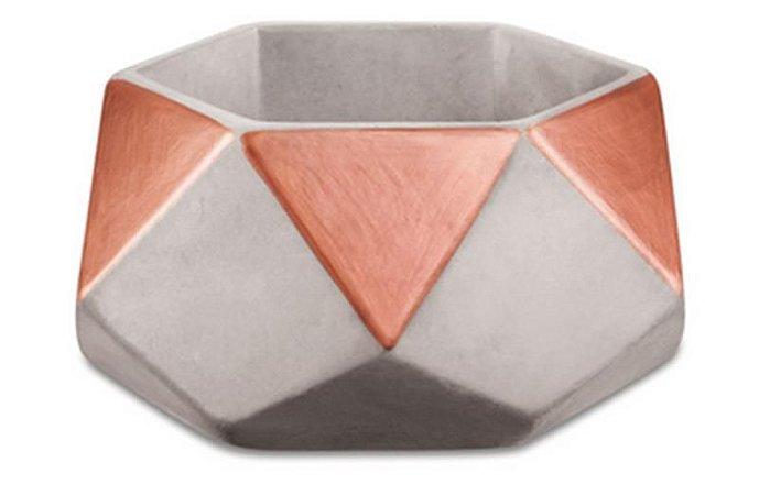 Cachepot de Cimento Hexagonal