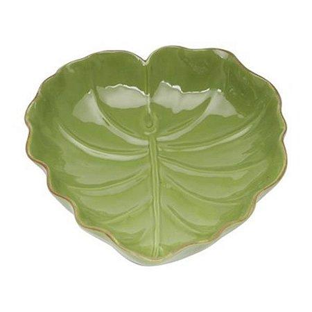 Prato Folha de Bananeira em Cerâmica 16 cm