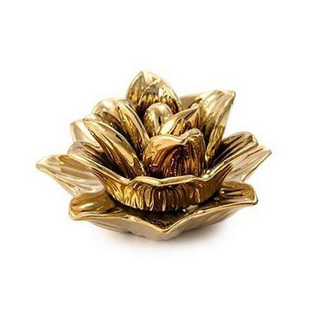 Flor Dourada em Cerâmica G