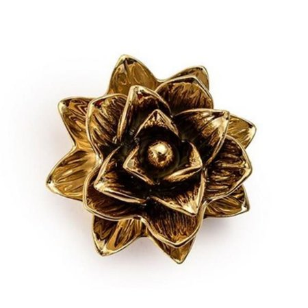 Flor Dourada em Cerâmica P