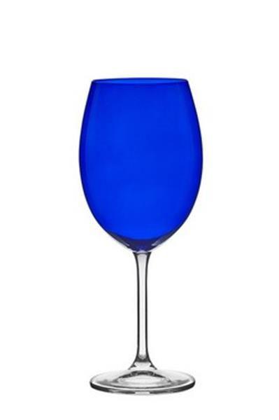 Jogo 06 Taças Bordeaux Azul 580ML