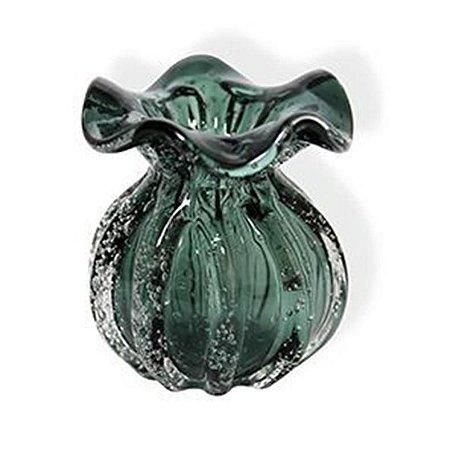 Vaso de Vidro Italy Verde Esmeralda 10x1