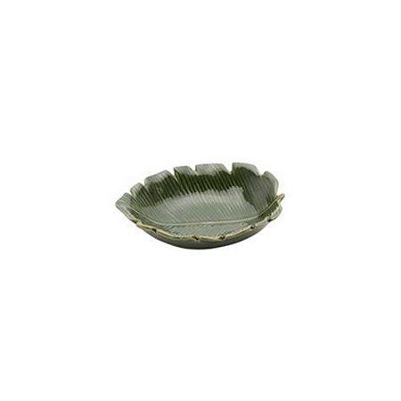 Prato Decorativo em ceramica Banana Leaf