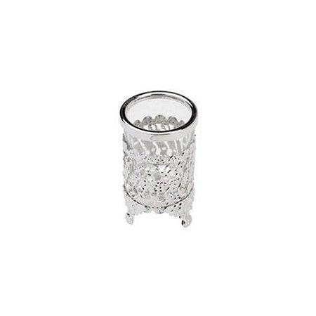 Suporte Multiuso de Zamac Niquelado Crystal 5x5x9,5cm