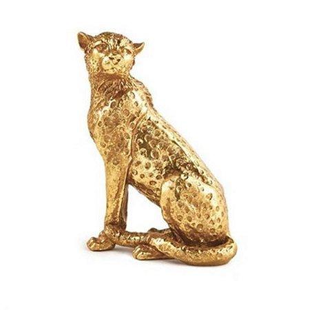 Escultura Leopardo em Poliresina