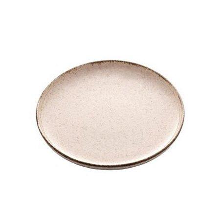 Prato Sobremesa Porcelana Reactive Canela 19cm