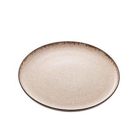 Prato Raso Porcelana Reactive Canela 27cm