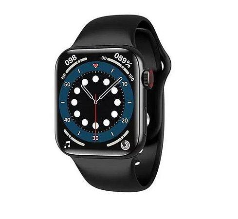 Relógio Smartwatch HW12 41mm notificações e ligações Foto de Face New 2021 Preto