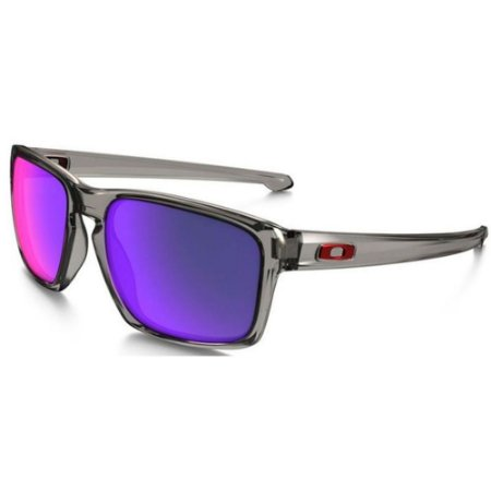 Óculos Oakley Sliver Grey Smoke Red Iridium Polarized