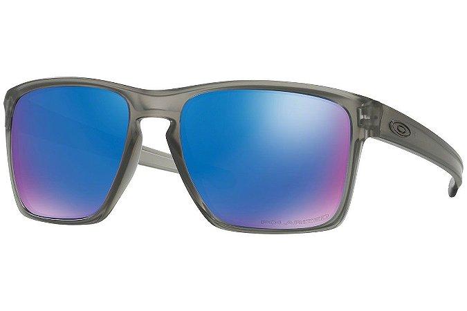 Óculos Oakley Sliver Matte Gray Sapphire Iridium Polarizado