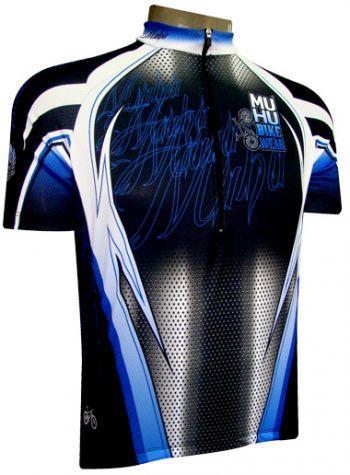 Camisa de Ciclismo Muhu Carbono Preto Azul