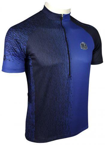 Camisade Ciclismo Manga Longa Muhu Solid Color Navy Blue