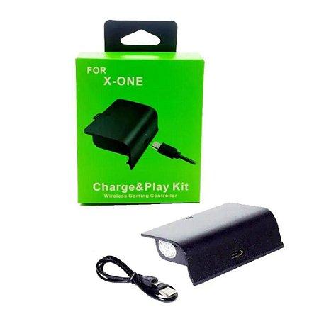 Kit Bateria + Carregador Para Controle Xbox One Recarregavel