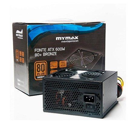 Fonte Gamer 600w 80 Plus Bronze Mymax
