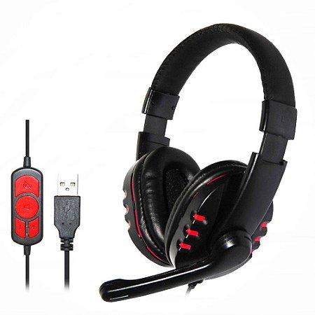 Headphone  Usb C/ Microfone Controle De Volume Shinka