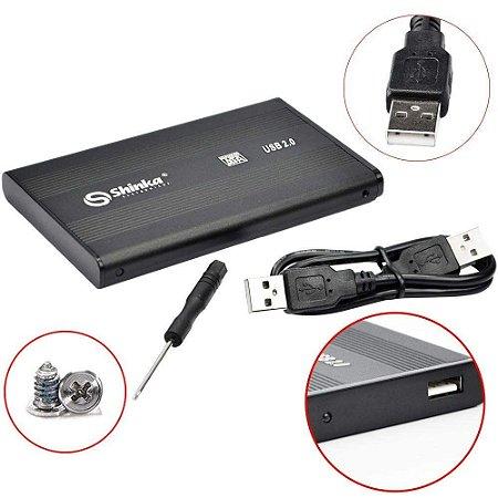 "Case para HD de Notebook - 2,5"" HDD, USB 2.0 SHINKA"