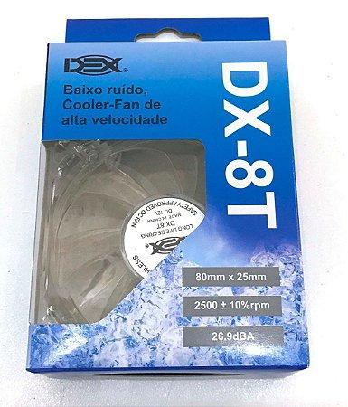 Cooler Fan Dex 80mm dx8t Led azul