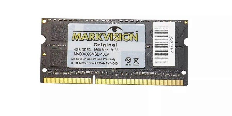 Memoria De Notebook 4GB DDR3 1600mhz Markvision