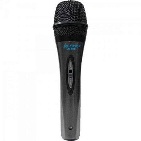 Microfone De Mão Dinâmico Ls300 Preto Leson..
