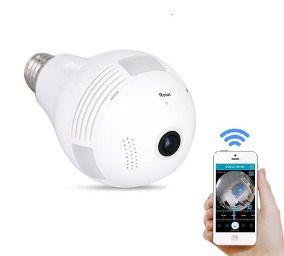 Câmera Lâmpada Wifi Smart