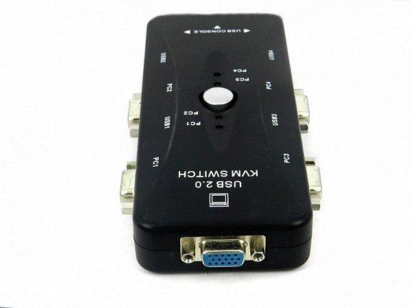 Chaveador Kvm Usb Switch 4 Portas Vga
