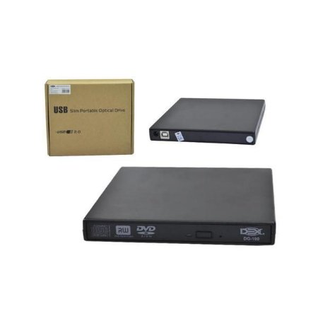 Gravador Usb Externo De Cd/dvd Slim Dex - Dg-100