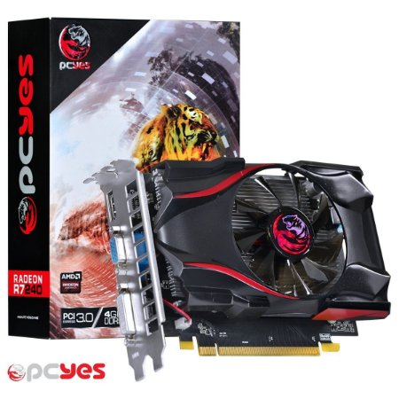 Placa de Vídeo PCYes AMD Radeon R7 240, 4GB, GDDR5