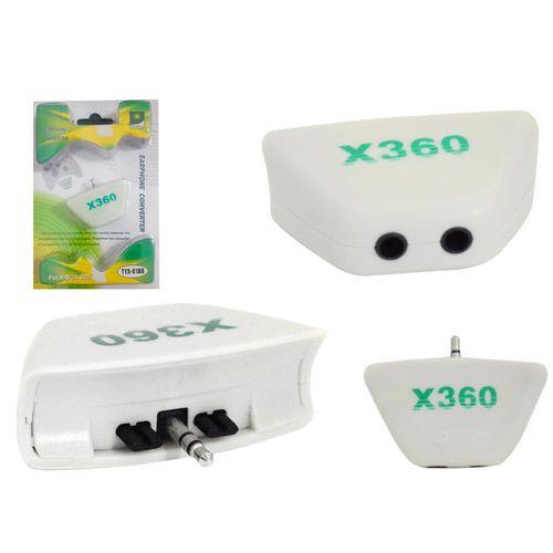 Adaptador Para Fone E Microfone Xbox 360