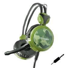 Headset Gamer P2 x2 p/ PC, PS3 e PS4 Eco da Guerra TecDrive F-5 - Camuflado Floresta