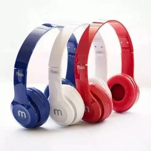 Headphone Fold Altomex A-866 Branco e Azul