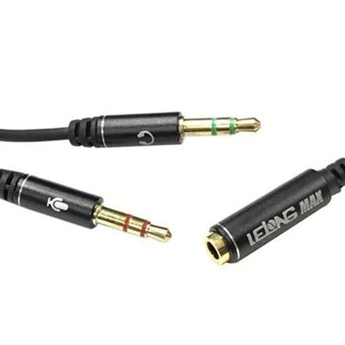 Adaptador De Áudio Y- P2 X P3 Macho 1 P2 Fêmea - Lelong MAX