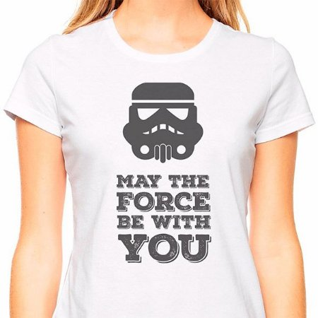 Baby Look Star Wars May the Force